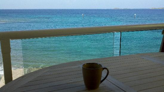 Sea Shore Allure : A great view for your morning coffee!
