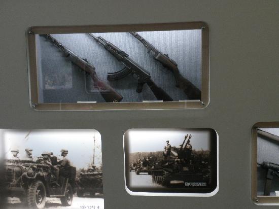 HuJingtou Zhanshi Museum : 銃器の展示物