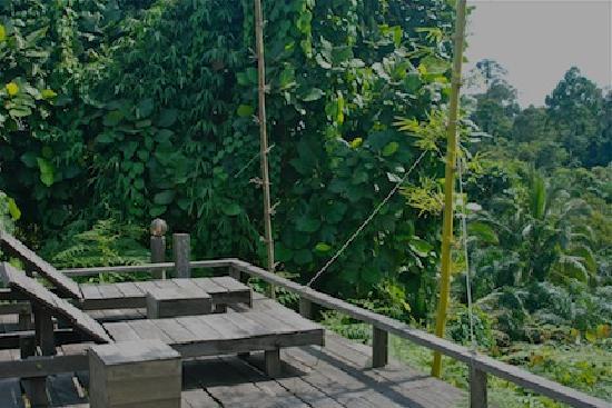 ปากันนากัน ดี ทรอปิคัล รีทรีท: Hand made deck chairs overlook the beautiful jungle greenery