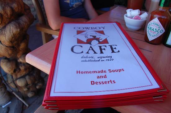 Cowboy Cafe Menu