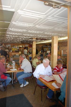 Inside teh Cowboy Cafe in Dubois Wy