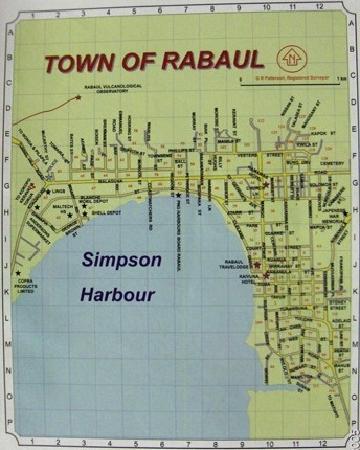 Rabaul Hotel: Map of Rabaul