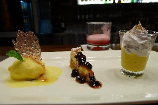 Chicha por Gaston Acurio: trio of best deserts