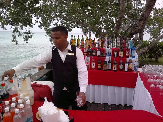 Dreams La Romana Resort & Spa : Réception en bord de mer