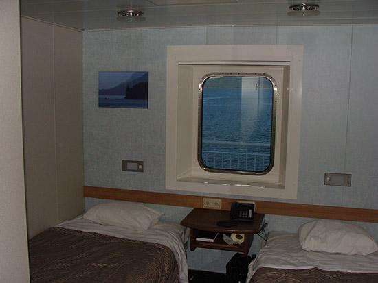 Σίντνεϊ, Καναδάς: Cabin with two beds and a view.