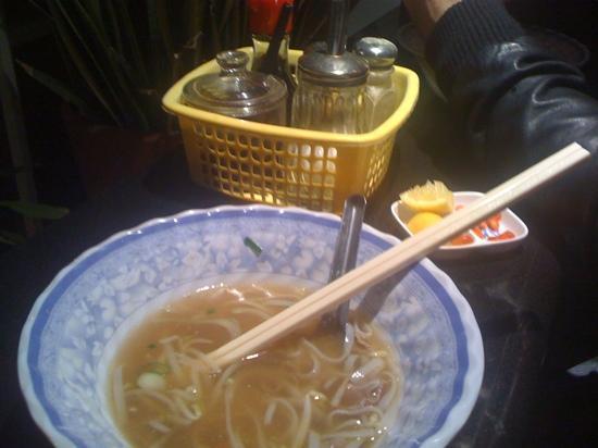 Vietnamese Kitchen: half eaten pho Bo..... oh yeah