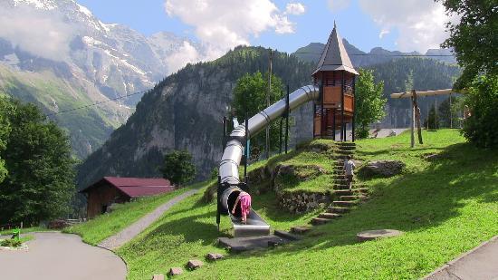 Playground In Gimmelwald Picture Of Hotel Alpina Murren TripAdvisor - Hotel alpina murren switzerland