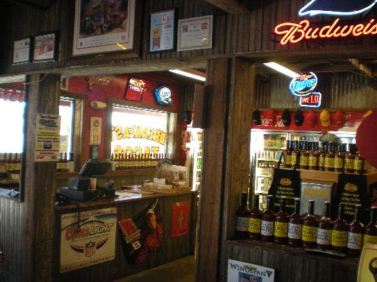 Rudy's: Country Store section and Package Store