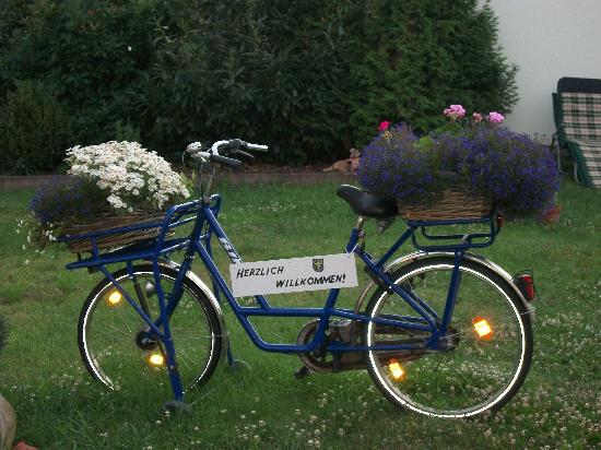 Germersheim, Germany: In garden at hof