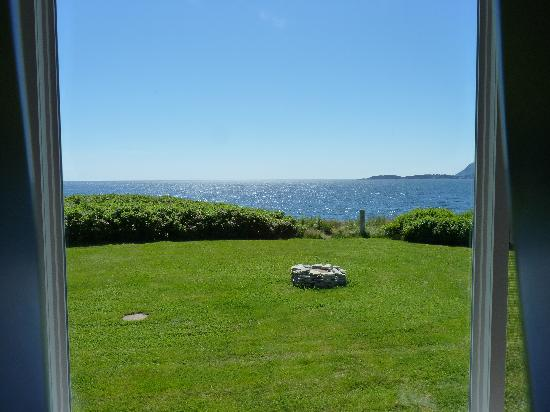 Seascape Coastal Retreat: View of ocean from inside our cottage