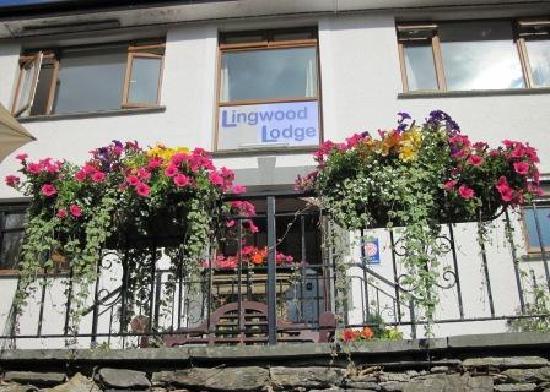 Lingwood Lodge: Flower baskets