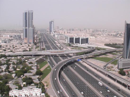 Gloria Hotel: Aussicht auf Dubai Internet City