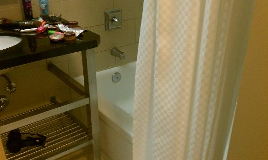 The Westin Governor Morris, Morristown: Can they make this any harder to get to the tub/shower?