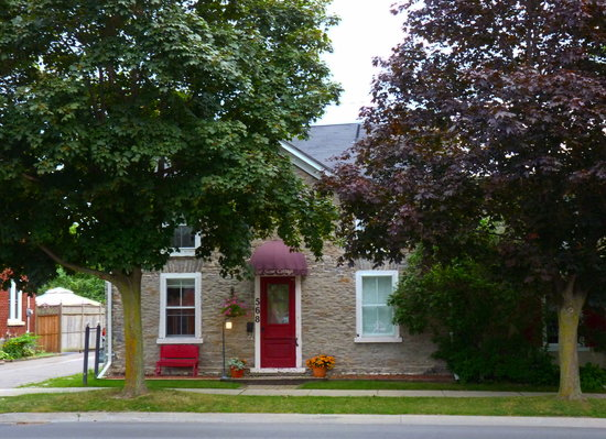 Our Stone Cottage from the parking across the street