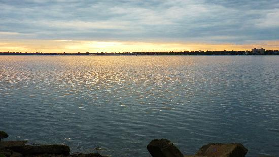 Our Stone Cottage : Sunrise over the St. Lawrence River from Park across the street