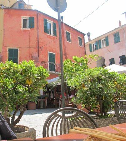 Hostaria: sitting at Hosteria restaurant, Imperia