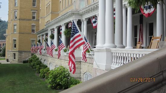 French Lick Springs Hotel: Front porch of resort