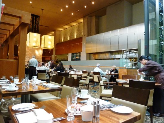 Yew Seafood + Bar: stylish decor