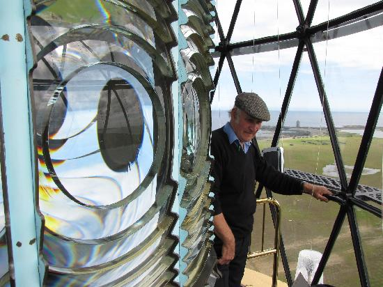 North Ronaldsay Lighthouse: Billy at the top