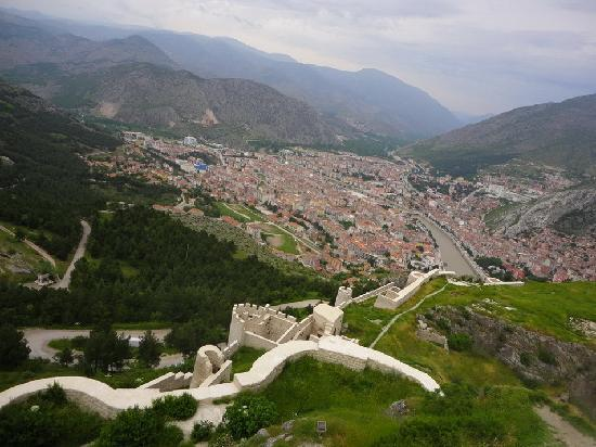 Amasya, Turkiet: castle walls