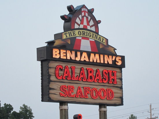 The Original Benjamin S Calabash Seafood Sign