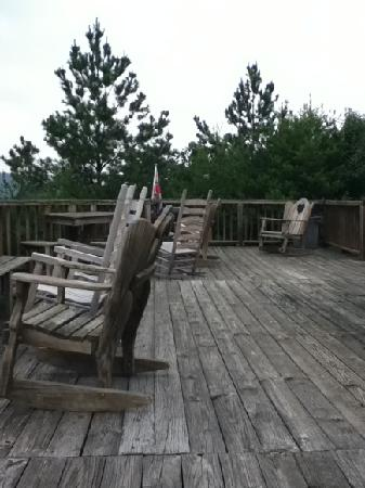 A view of the 48ft. deck at Hotel Pigeon Forge.