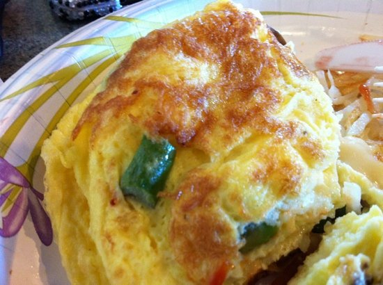 Obsessions Cafe: asparagus and mushroom omelette