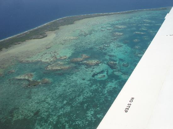 Posada Bequeve: vista desde el avión