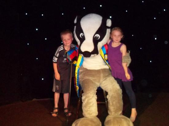 Tolroy Manor Holiday Park: Kenny the badger