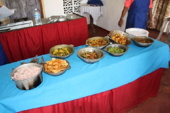 Unawatuna, Sri Lanka: The feast we'd cooked