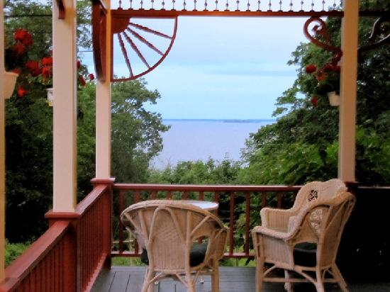 Victorian by the Sea: Porch view of the bay
