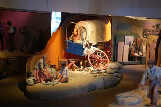 Casper, WY: The exhibits at the Historic Trails Center are excellent
