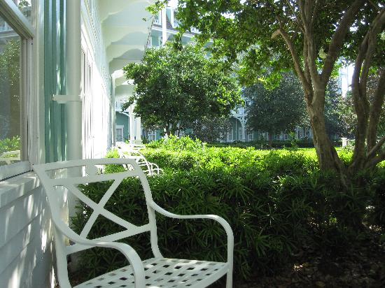Our ground floor patio picture of disney 39 s beach club for Garden view rooms at disney beach club