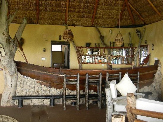 Bar Made From A Fishing Boat At Kyambura Game Lodge