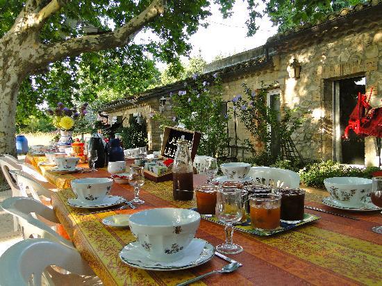 Le Mas des Vertes Rives: the breakfast is ready