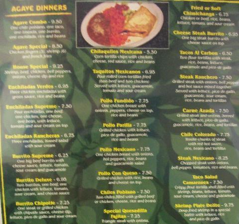 El Agave: Dinners