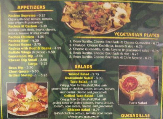 El Agave: Appetisers, vegetarian etc.