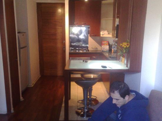 Santiago Suite Apartment: kitchen/living room