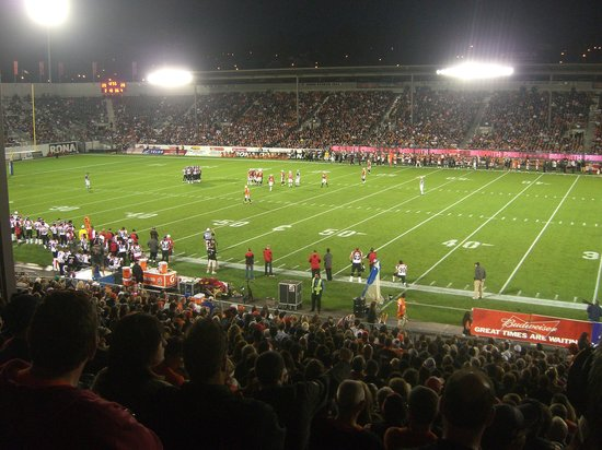 Empire Stadium: view at a BC Lions game