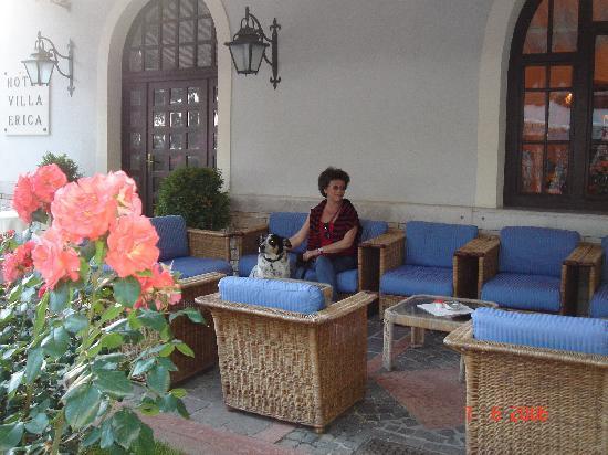 Hotel Villa Erica: Terrasse vor dem Haus