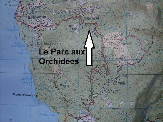Le Parc aux Orchidées : Lageplan