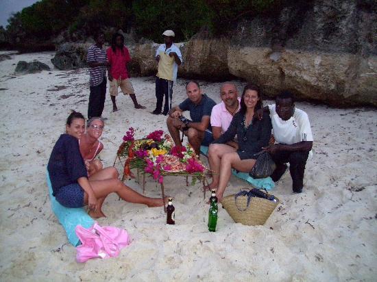 Tiwi, Kenya: la cena in spiaggia