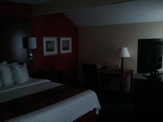Berwyn, Pensilvania: Plasma screen 2 of 3, king size bed, desk area