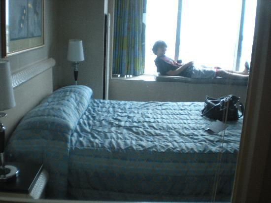 Royal Suites at  Atlantic Palace: Taken from bathroom. Wall between bed and shower is actually a WINDOW! Only bad thing about room