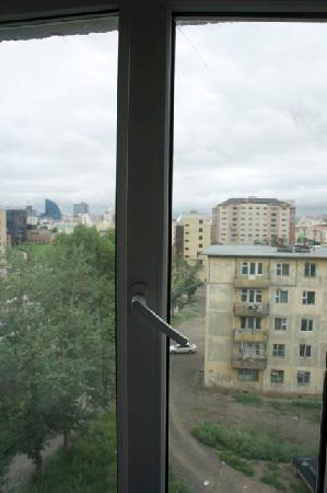 Flower Hotel: The dismal view through the cracked window