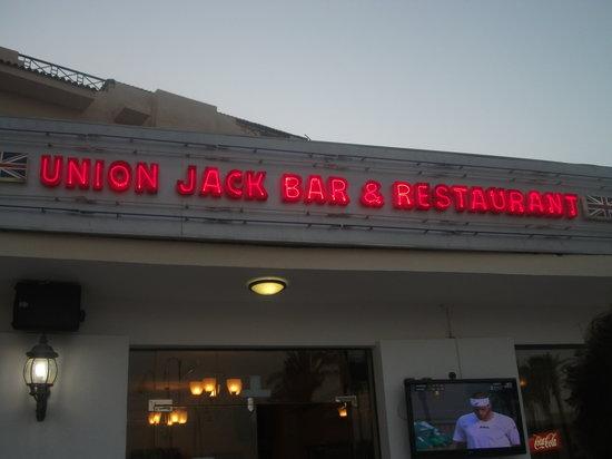 Union Jack Bar and Restaurant: Ouside!