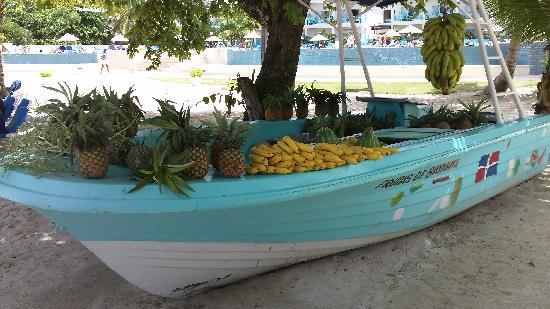 Dreams La Romana: des fruits frais sur la plage tous les matins