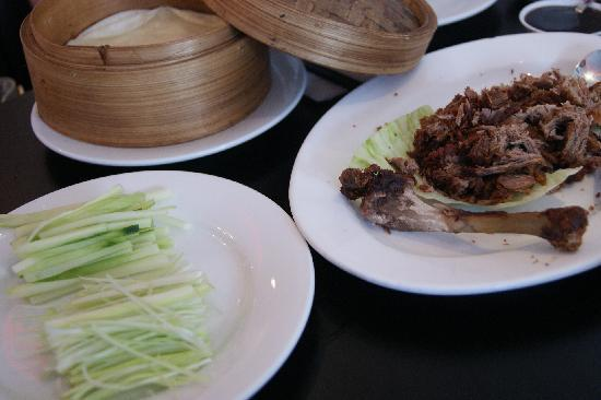 HONG KONG WOK: Peking duck wraps served with hoisin sauce and refreshing vegetables.