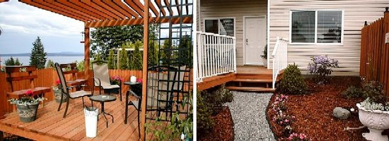 Island Serenity Chemainus Bed & Breakfast / Vacation Rental: Private ocean view garden and deck