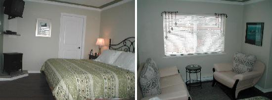 Island Serenity Chemainus Bed & Breakfast / Vacation Rental: King size bed and ocean view sitting area